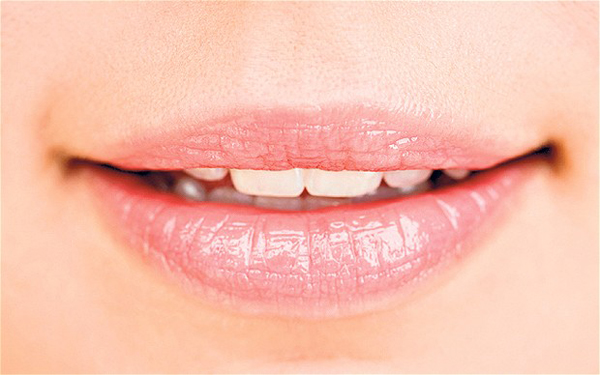 Close up of womans mouth...B26KER Close up of womans mouth