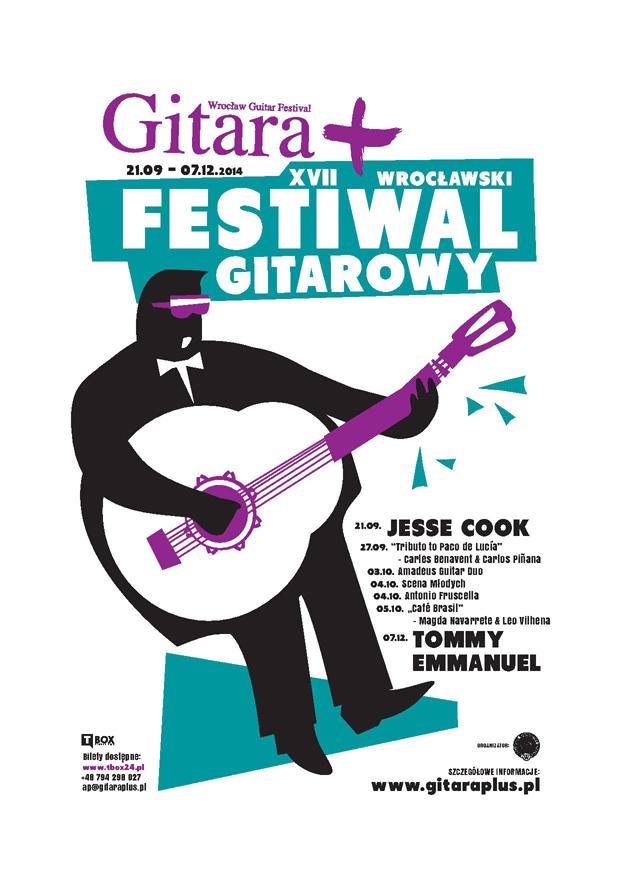 Festiwal Gitara PLUS plakat