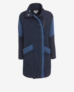 IRO Patchworkowy płaszcz oversize